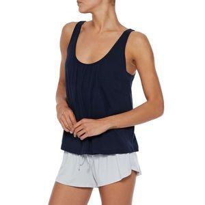 NWT Skin Kendall gathered Pima cotton-jersey tank